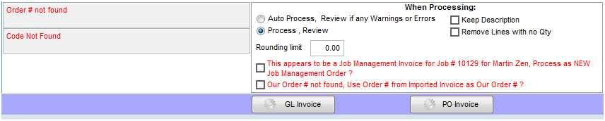 Our Order # Not Found. User Order # From Imported Invoice As Our Order #?  This Will Create A New Purchase Order With The Same Number As The Purchase  Order.