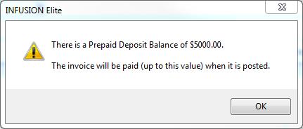 Deposit on Job 3