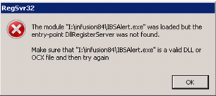 Dll Register Server Not Found – Infusion Business Software