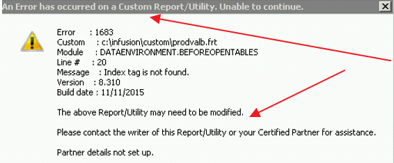 Error 1683 Custom Report