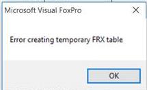 Error FRX