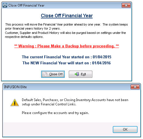 Financial Warning