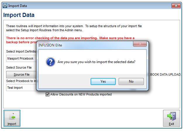 Import Data Yes