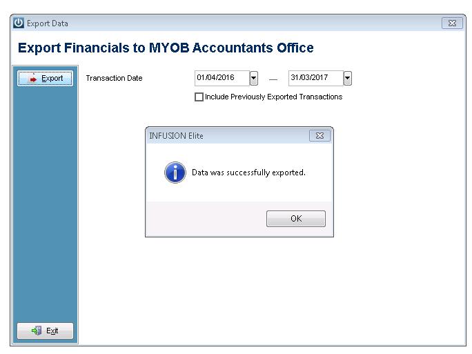 MyOB Export