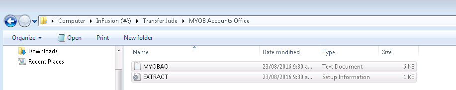 MYOB to Email