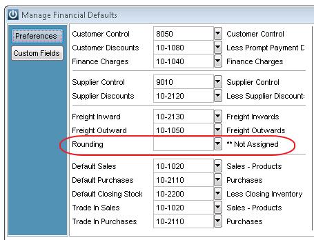 Rounding Defaults