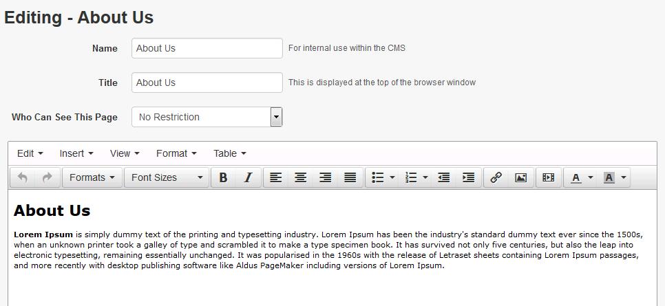 Webstore Editing